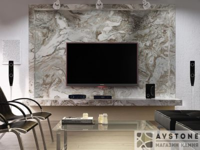 отделка стен мрамором avalanche заказать фото